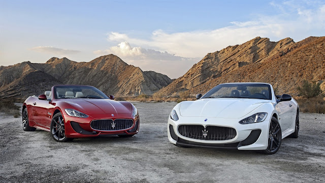 Two Maserati GranCabrio Supercars HD Wallpaper