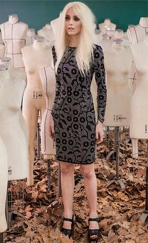 Patrícia Viera coleção inverno vestido de couro manga longa