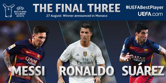 Messi-Luis Suárez-Cristiano Ronaldo - UEFA 2014/15