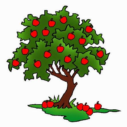 Gambar Pohon Apel Kartun Lucu Apple Tree Cartoon Pictures Wallpaper