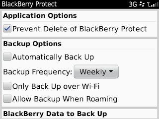 cara menyimpan data blackberry