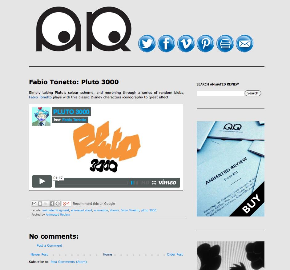 http://www.animatedreview.com/2014/02/fabio-tonetto-pluto-3000.html