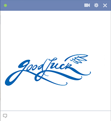 Good luck sticker for Facebook