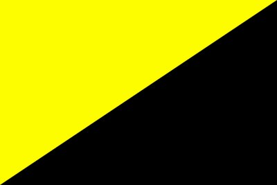 The flag of anarcho-capitalism doesn't have to be the only standard in a voluntary society, but it would certainly be one.