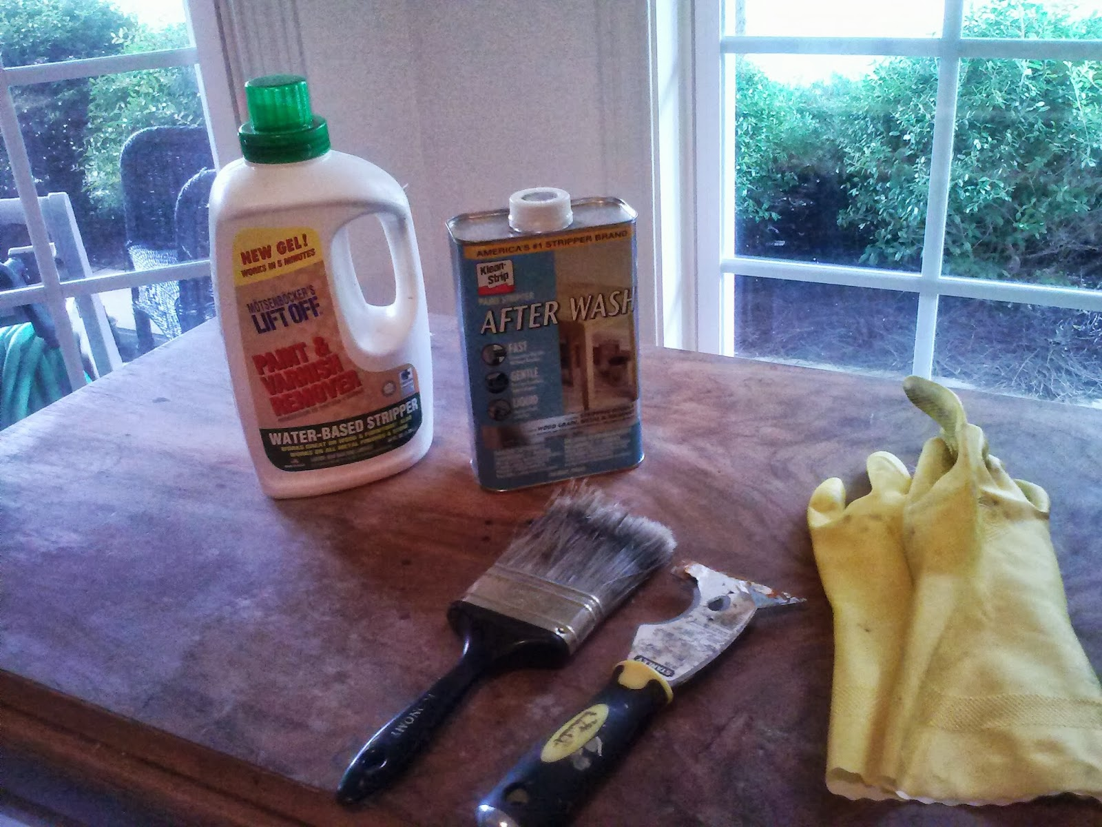 how to clean wood after stripping