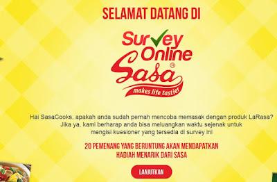 Info Siurvey - Survey Berhadiah 20 Hadiah Menarik dari SASA