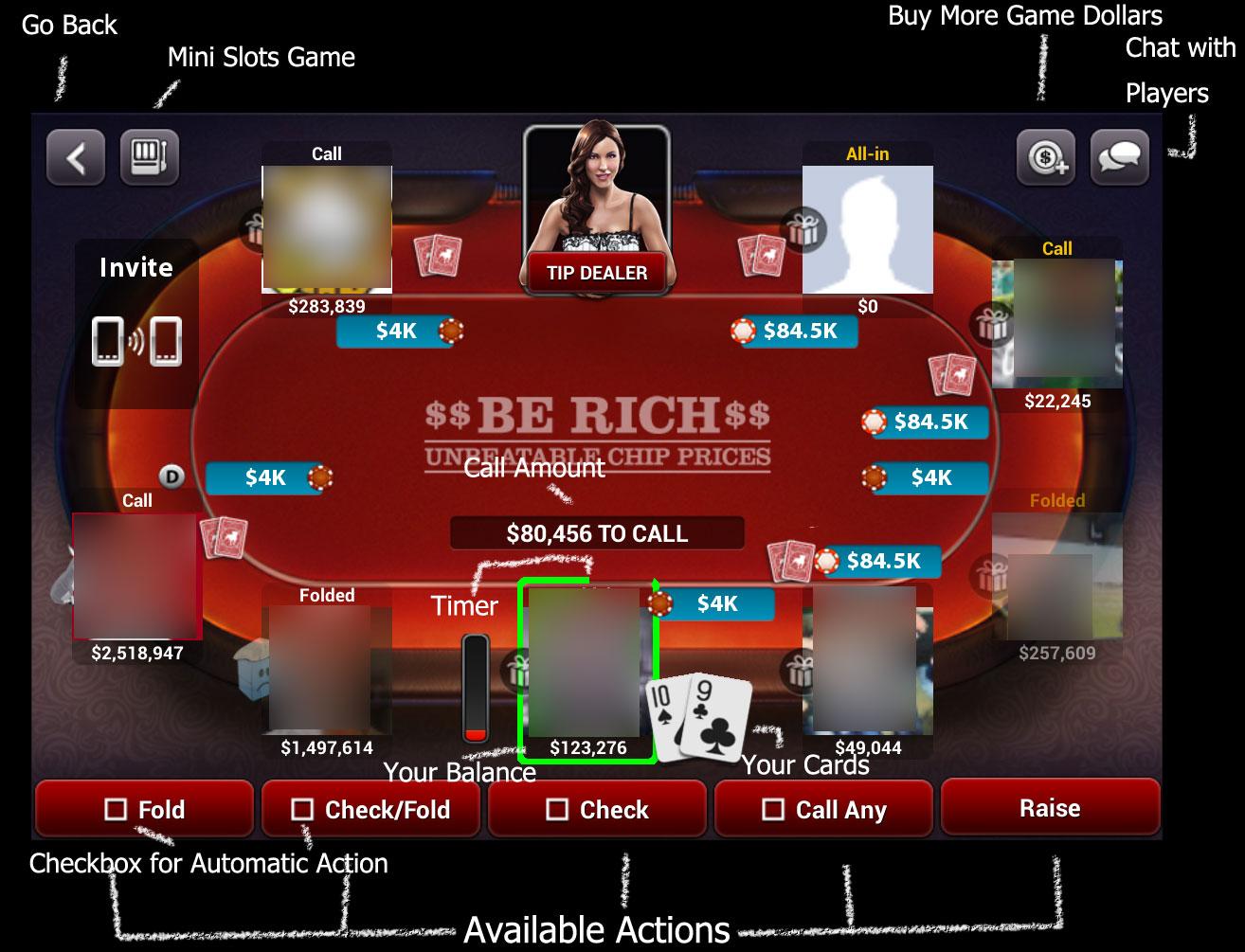 Zynga poker video poker