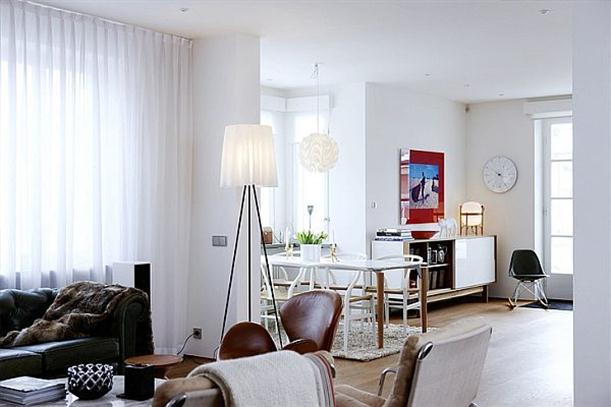 simple apartment design contemporary swedish style mid century