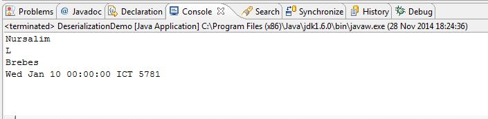 Serialisasi dan Deserialisasi Objek di Java