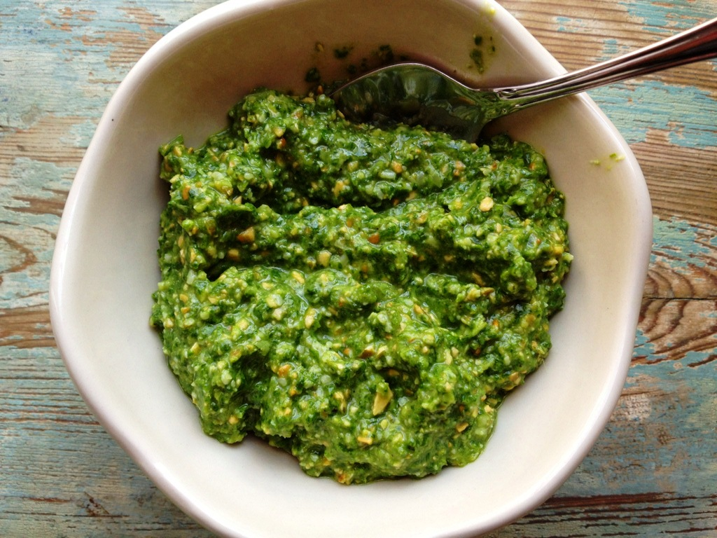 Healthy Makeover: Basil Spinach Pesto