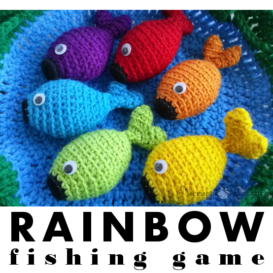 Niccupp Crochet: Rainbow Fishing Game - Free Pattern