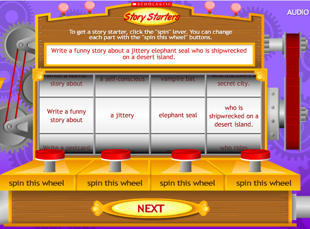scholastic creative writing generator