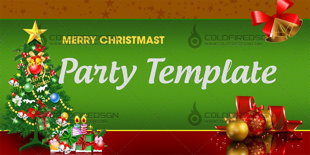Christmas Party Banner PSD Template – Christmas Party Tickets Templates