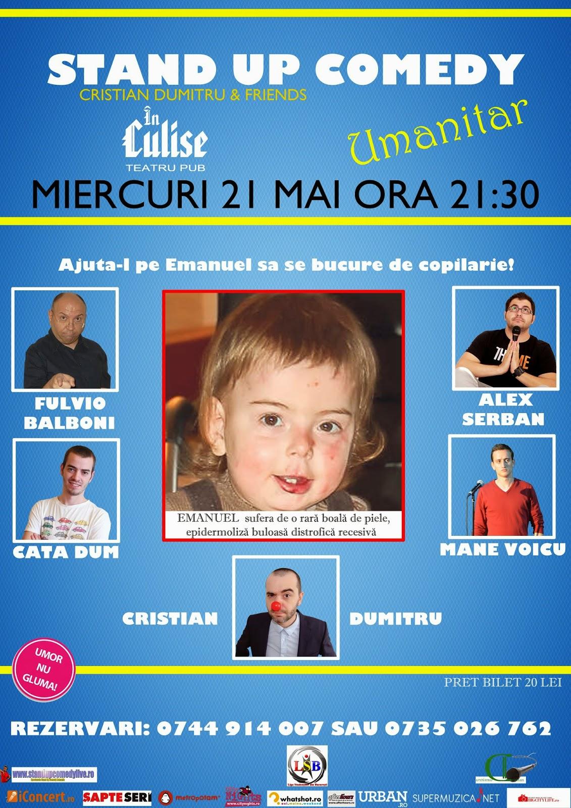stand-up comedy miercuri 21 mai bucuresti