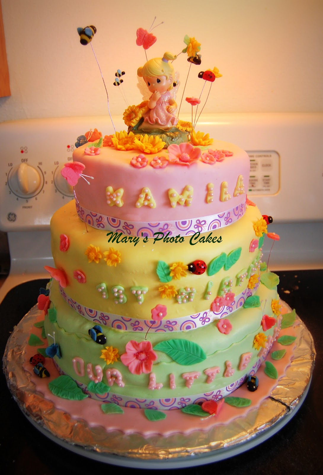 Images Of Birthday Cake For One Year Old Baby Girl : Mary s Photo Cakes: Precious Moments Cake for a 1 Year Old ...
