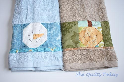 1001 quilts como hacer toallas decoradas con patchwork - Como hacer pachwork ...