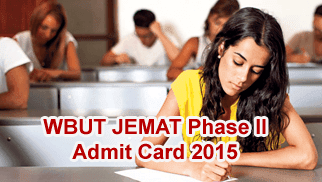 WBUT JEMAT Phase II Admit Card 2015 Download from 18/09/2015. WBUT Joint Entrance Management Aptitude Test 2015 Admit Card Roll Number wise, WBUT JEMAT Phase II Admit Card / Call Letter 2015