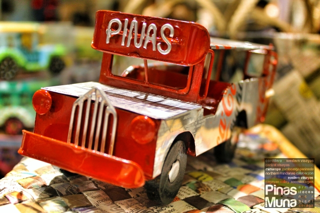Miniature jeepney model made of recycled beverage cans by Isla sa Kaunlaran