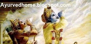 कृष्ण व अर्जुन द्वारा शंख नाद