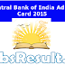 Central Bank of India Credit Officer Admit Card 2015 Download Now