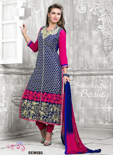 New Arrival Latest Embroidery Georgette Salwar Kameez