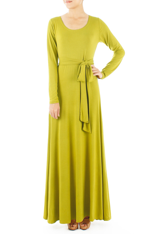 Endless Dream Long Sleeve Maxi Dress – Lime Green