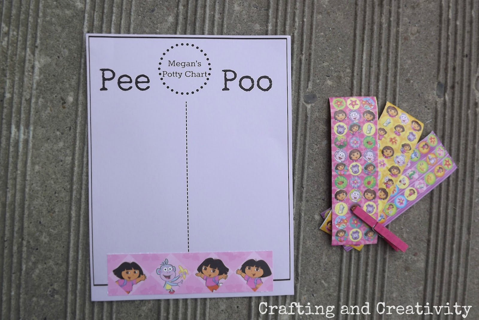 crafting and creativity potty training chart printable i totally have mixed feeling of dreading the potty training process and relief excitement at the thought of getting her out of diapers wish us luck