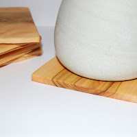 wooden olive coasters