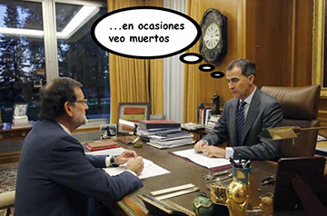 el villano arrinconado, humor, chistes, reir, satira, Rajoy, Felipe VI