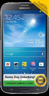 Factory Unlock Code for Samsung Galaxy Mega 6.3 I9200