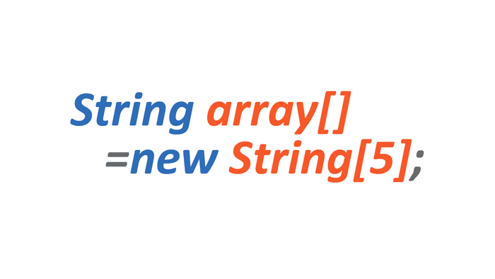 string type array, array in java, string type array in java