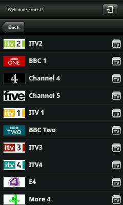Android TV App - UK TV Channels
