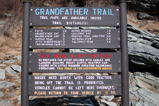 grandfather trail trailhead