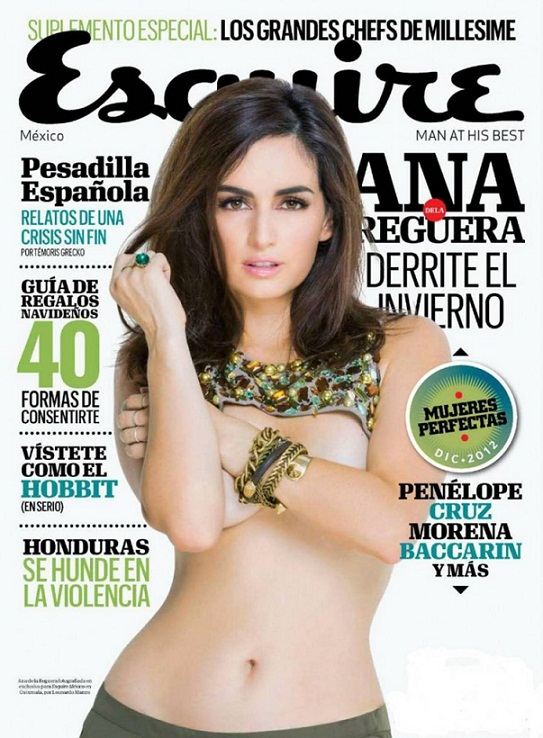 Ana de la Reguera on cover of Escuire