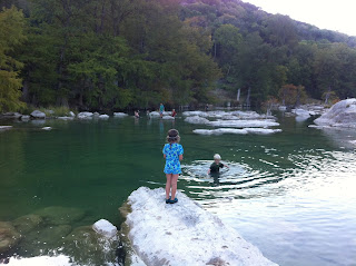 Perdenales Falls State Park and River; favorite swimming spot with children