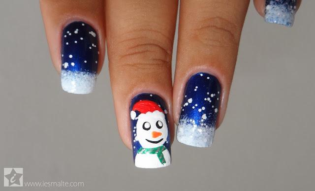 Unhas Decoradas - Boneco de Neve (Especial de Fim de Ano)
