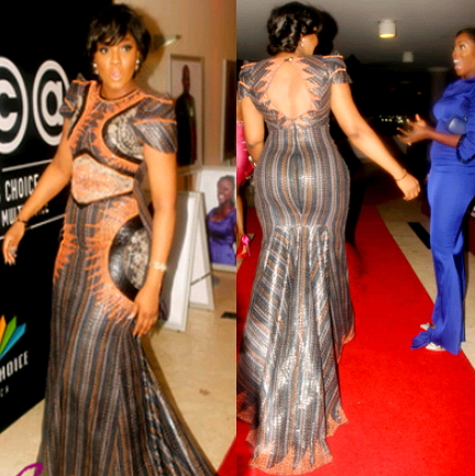 omotola jalade african magic dress