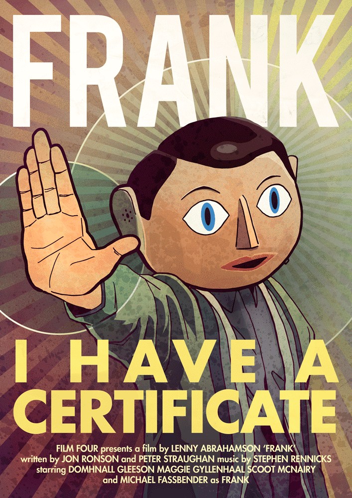 Michael Fassbender Frank Poster Head