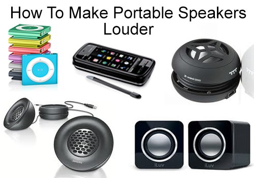 how to make your portable speakers louder how to fix. Black Bedroom Furniture Sets. Home Design Ideas