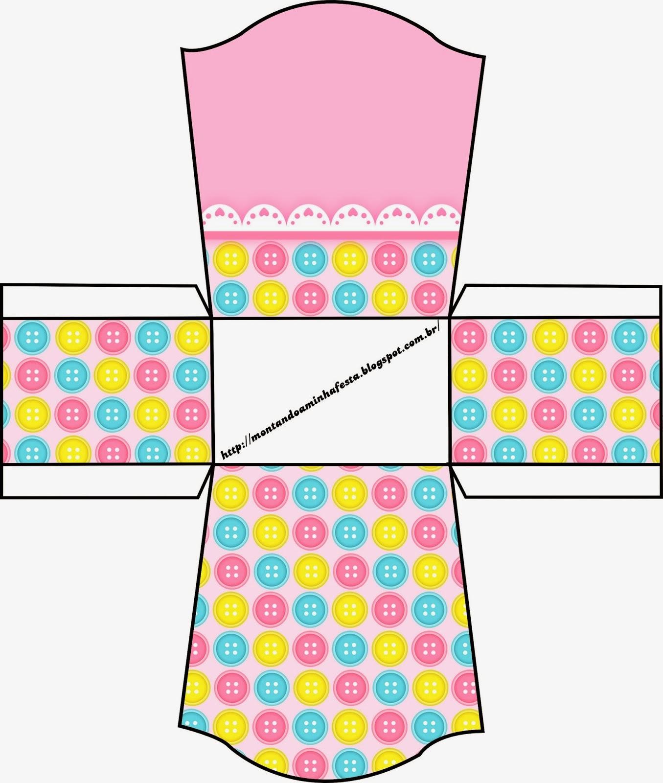 Caja abierta para pastelitos, chocolates o mazapanes.