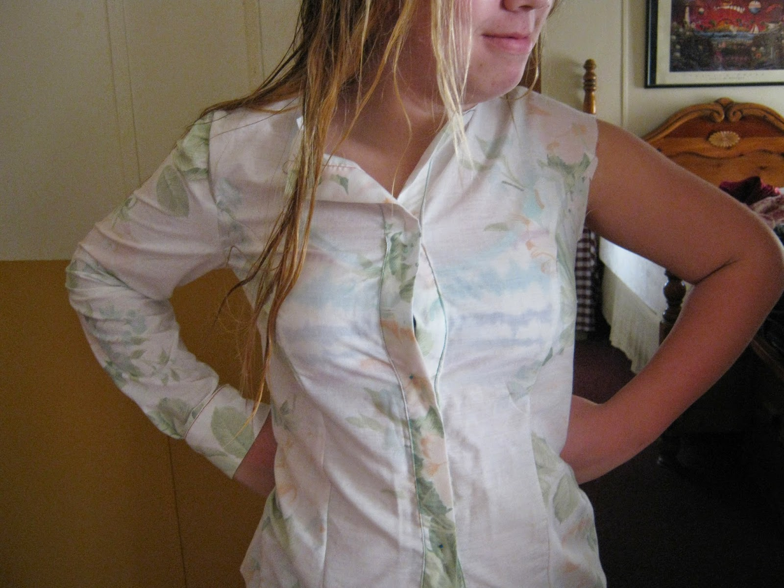 McCall 4922 Princess Seam Top Muslin www.sewplus.blogspot.com