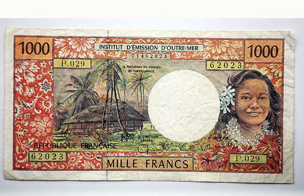 1000 CPF franc - France