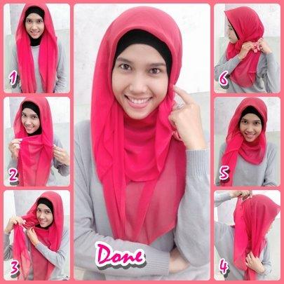 ... saja melihat hijab tutorial cara memakai jilbab modern di bawah ini