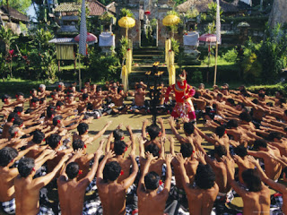kecak dance, music without melody from bali island