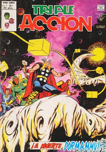 Portada de Triple Acción Volumen 1 Nº 7 Ediciones Vértice