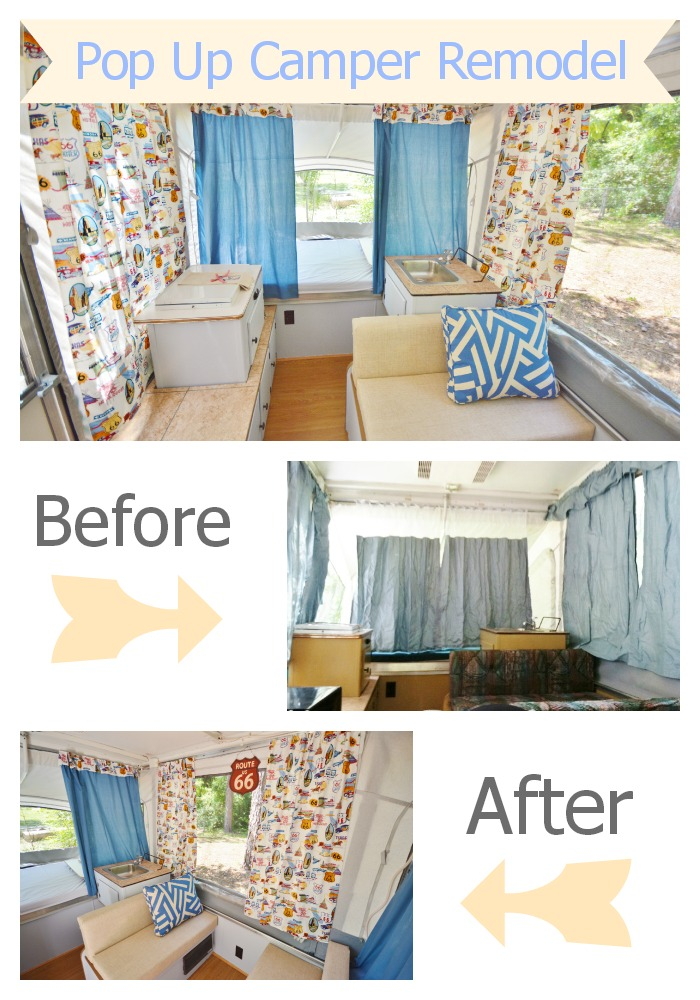 Life With 4 Boys: DIY Pop Up Camper Remodel #70DayRoadTrip
