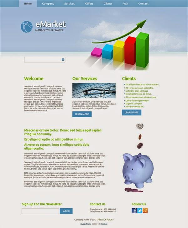 eMarket - Free Drupal Theme
