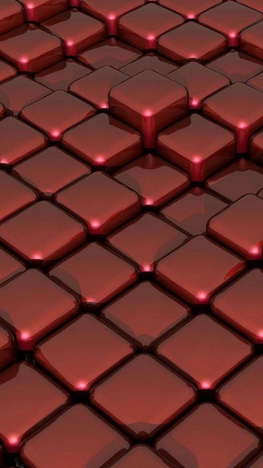 3D Red Cubes   Galaxy Note HD Wallpaper