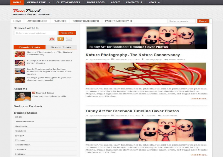 TruePixel Responsive Blogger Template Free Download