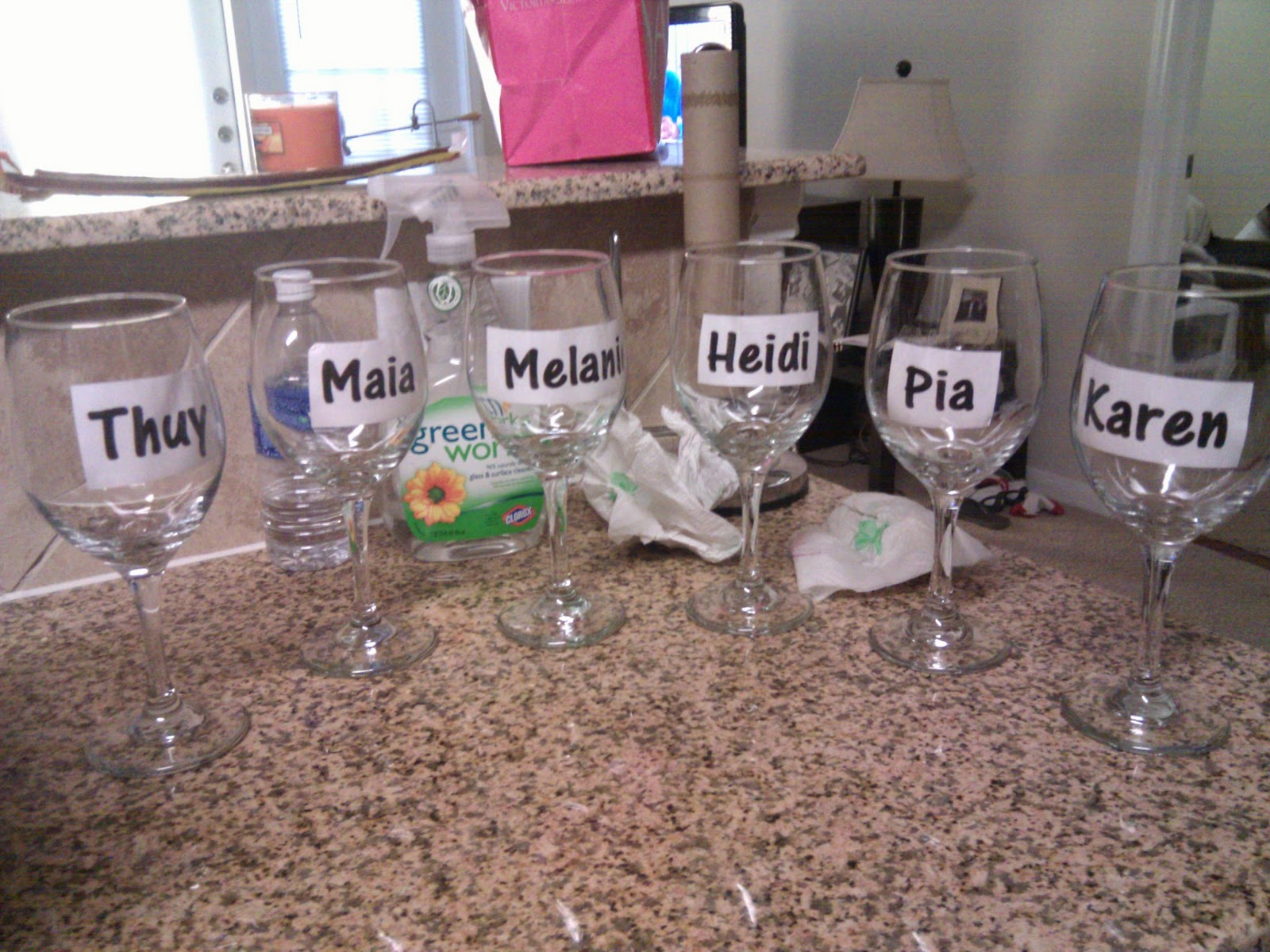 How to decorate wine glasses for bridesmaids - Diy Personalized Bridesmaid Wine Glasses
